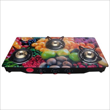 3 Burner Digital Fruit Design Gas Stove