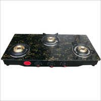 Three Burner Brass Gas Stove