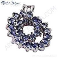 Dazzling Iolite Gemstone Sterling Silver Pendant