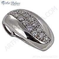 HOT!!! Luxury Fashion Cubic Zirconia Gemstone Silver Pendant