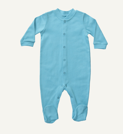 Organic cotton baby footed sleepsuits