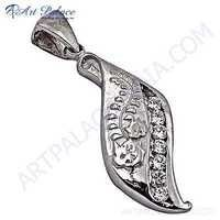 Gracious Fashionable Cubic Zirconia Silver Pendant