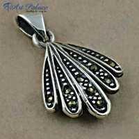 Indain Designer Plain Sterling Silver Pendant