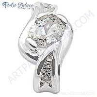 Sensational Cubic Zirconia Sterling Silver Pendant