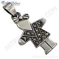 Man Style Plain Silver Pendant