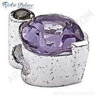 Excellent New Fashionable Amethyst Gemstone Silver Pendant