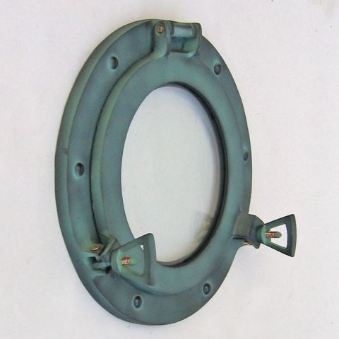 NAUTICAL ALUMINIUM PORTHOLE GREEN 9