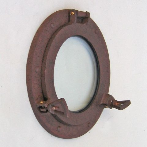 NAUTICAL ALUMINIUM PORTHOLE RUST 9