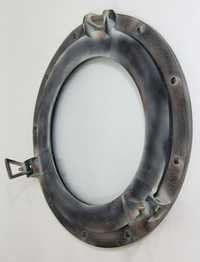 NAUTICAL ALUMINIUM PORTHOLE WINDOW MIRROR ANTIQUE 15