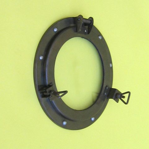 NAUTICAL IRON PORTHOLE MIRROR ANTIQUE FINISHED 9