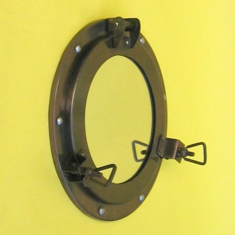 NAUTICAL IRON PORTHOLE MIRROR 9