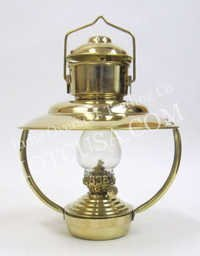 NAUTICAL SOLID BRASS TRAWLER OIL LAMP