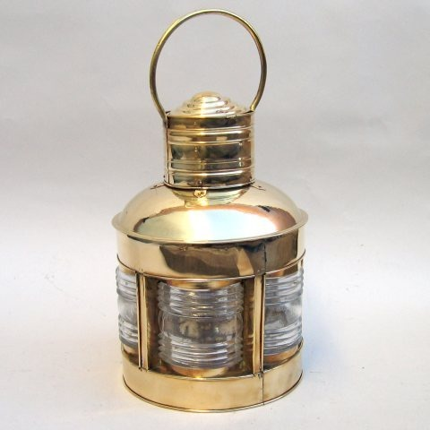 NAUTICAL BRASS LIGHTHOUSE LANTERN 5 SIDED 17