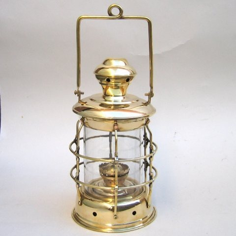 NAUTICAL BRASS CARGO LANTERN 5 SIDED 14