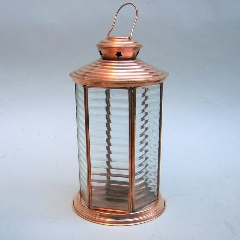 NAUTICAL CANDLE LANTERN GLASS 13