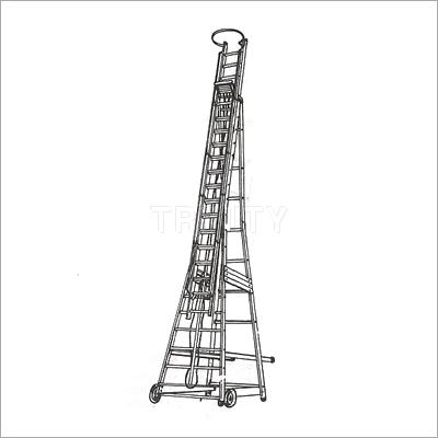 Aluminium Trolley Wheeled Ladder