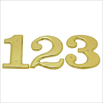 Numerals Brass Number