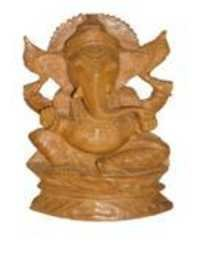 Handmade Wooden Ganesh Statue