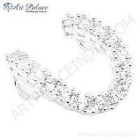 Luxurious Cubic Zirconia Silver Pendant