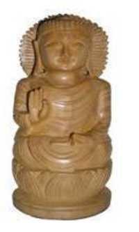 Gautam Buddha Wooden Statue