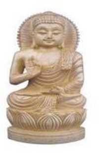 Handmade Wooden Buddha Statue