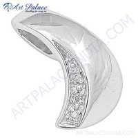 Famous Designer Cubic Zirconia Gemstone Silver Pendant