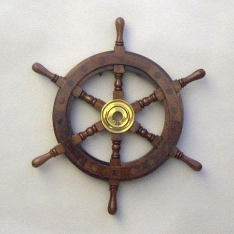 NAUTICAL WOODEN SHIP WHEEL 13