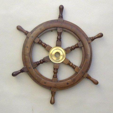 Nautical Wooden Ship Wheel 25