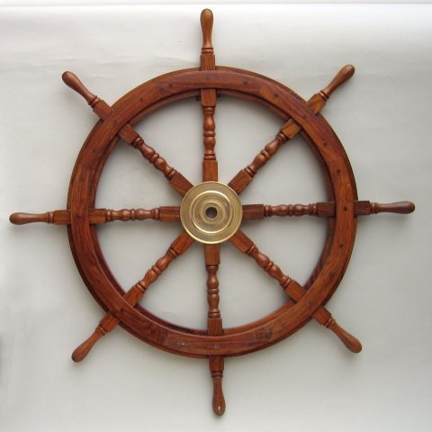 NAUTICAL WOODEN SHIP WHEEL 36