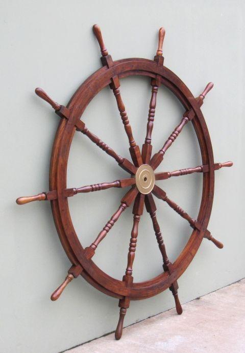 NAUTICAL WOODEN SHIP WHEEL  72