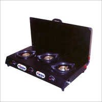 3 Burner Gas Stove Trangler with Lid