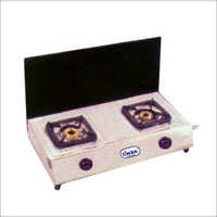 Double Burner Gas Stove  with Lid