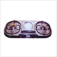 Double Burner Oval Gas Stove