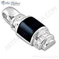 Newest Style Black Onyx Gemstone Silver Pendant