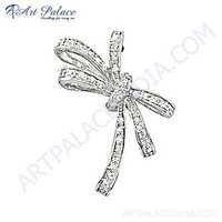 Sensational Cubic Zirconia Gemstone Sterling Silver Pendant