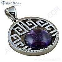 Sensational Amethyst Sterling Silver Pendant