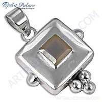 Fashion Accessories Chalce Gemstone Silver Pendant