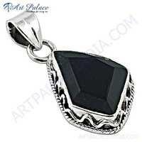 Top Quality Black Onyx Sterling Silver Pendant