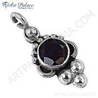 Top Quality Designer Garnet Gemstone Silver Pendant