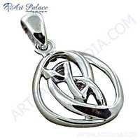 Gracious Fashionable Plain Silver Pendant