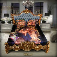 Digital Print Bedsheet Set. European Art
