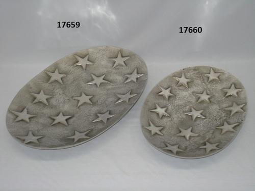 Star Design Oval Platter