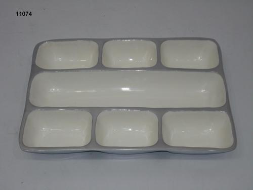 Aluminum White Enameled Dish