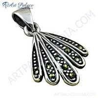 Party Wear Designer Plain Silver Pendant