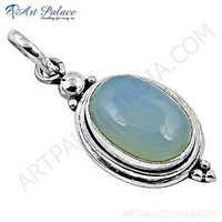 Indian Touch Chalce Gemstone Silver Pendant