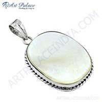 Celeb Style Shell Sterling Silver Pendant