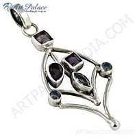 Inspired Multi Stone Silver Pendant