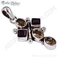 Wholesale Various Styles Citrine & Garnet Gemstone Silver Pendant