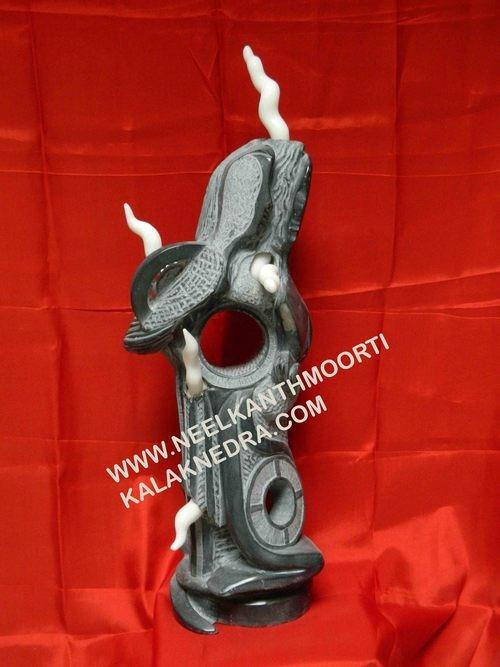 Black Marble Art Sculpture