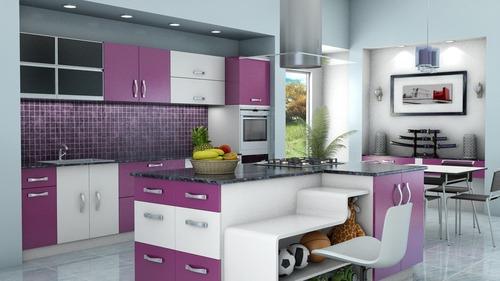 PU Coating Modular Kitchen
